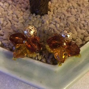 Vintage lucite clip on earring